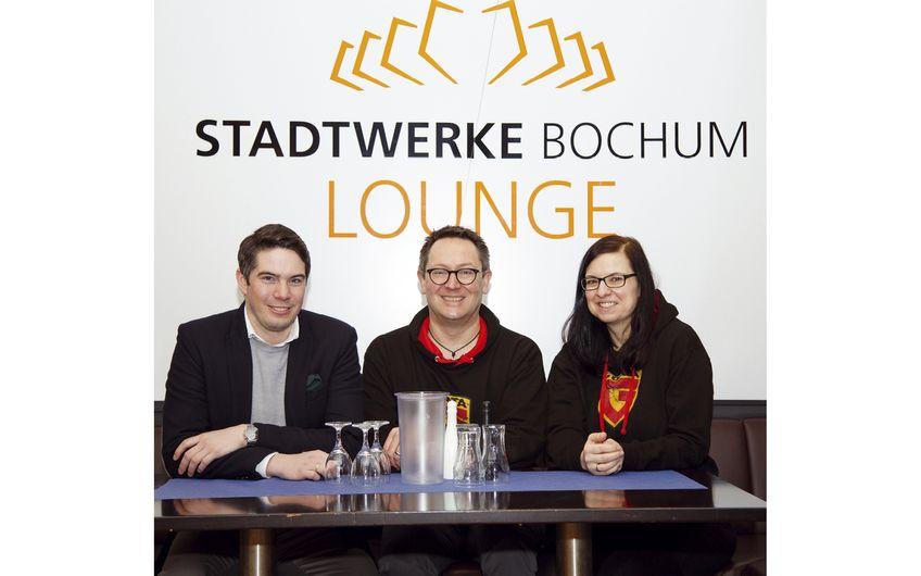 Nikolas Schran, Stefan Karpenstein und Vera Haake -  Mitorganisatoren vom Sponsorpartner G DATA CyberDefense AG