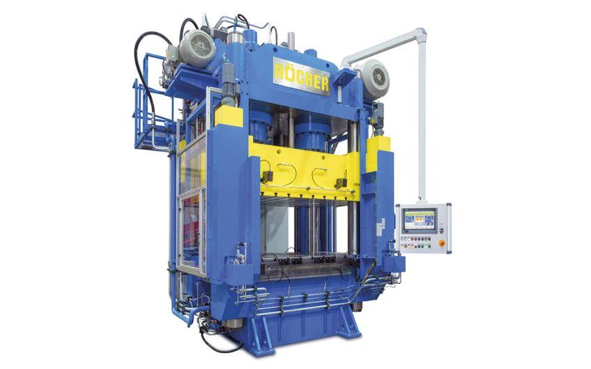 si-autiomation unterstützt Röcher bei der Entwicklung, Softwareprogrammierung und Inbetriebnahme von hydraulischen Pressensystemen mit Energiesparantrieb (Foto: Röcher)