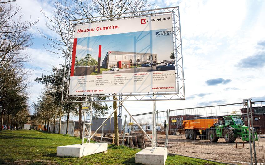 Eine der letzten Neuansiedlungen auf Ewald im Bau: Die Niederlassung des US-amerikanischen Unternehmens Cummins Inc. (© aller Fotos: RAG Montan Immobilien, Fotograf: Thomas Stachelhaus)