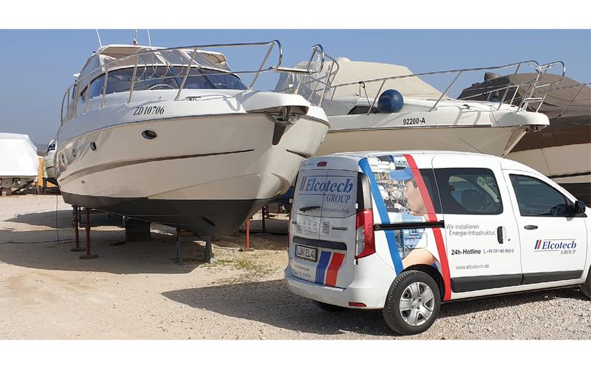 Seit der Gründung von Elcotech d.o.o. im kroatischen Zadar gehören u.a. auch der Marineservice und die Jachtelektrik zu den Kompetenzbereichen