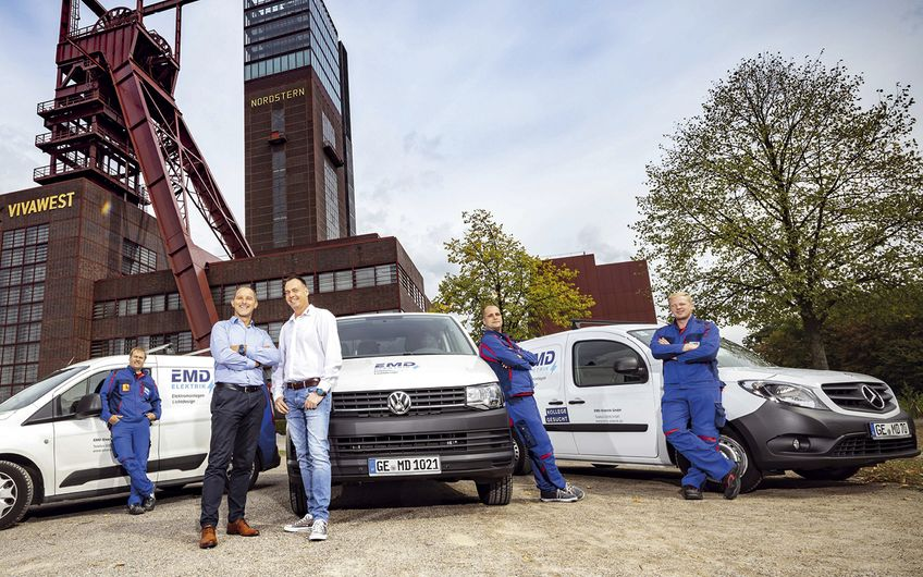Das EMD-Team ist für alle führenden Wohnungsbaugesellschaften im Revier tätig Foto: © Holger Bernert