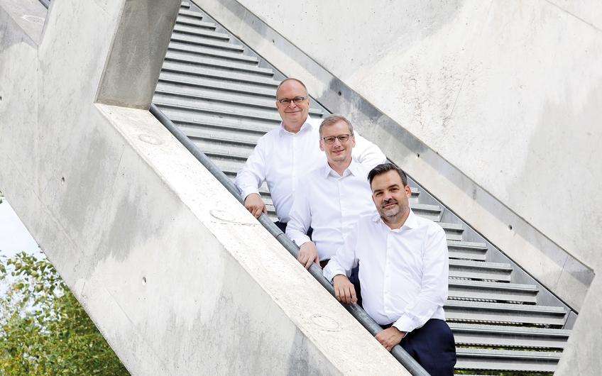 Der neue CUBION-Vorstand: Frank M. Lichtenheld, Markus Büchte und Stefan Orts (v.l.)
