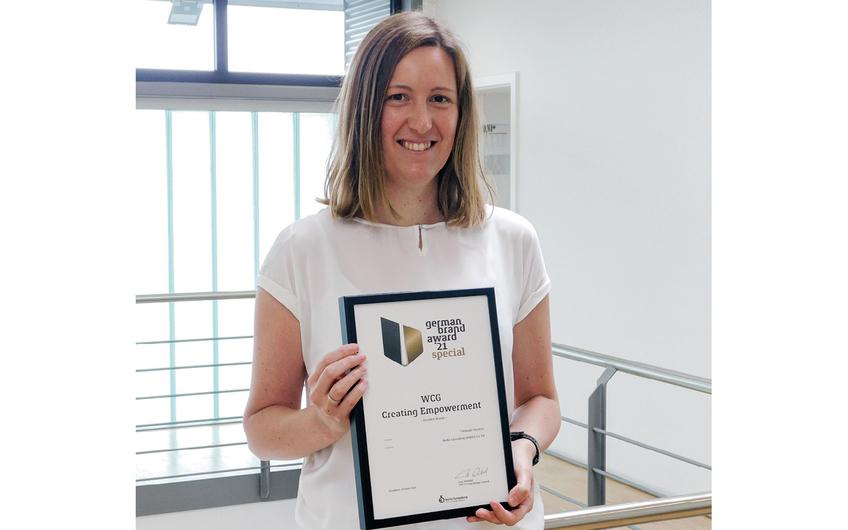 WCG wiederholt mit German Brand Award ausgezeichnet.