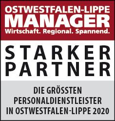 Siegel: STARKER PARTNER - Die größten Personaldienstleister in Ostwestfalen-Lippe