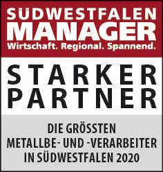 Siegel: STARKER PARTNER - Die größten Metallbe- und -verarbeiter in Südwestfalen
