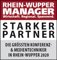 Siegel: STARKER PARTNER - Die größten Konferenz- und Medientechniker in Rhein-Wupper