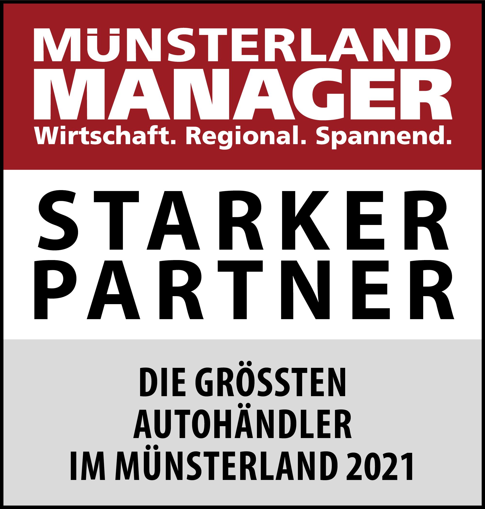 Siegel: STARKER PARTNER - Die größten Autohändler im Münsterland