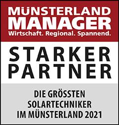 Siegel: STARKER PARTNER - Die größten Solartechniker am Niederrhein