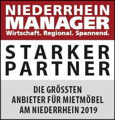 Siegel: STARKER PARTNER - Die größten Anbieter für Mietmöbel am Niederrhein