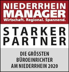 Siegel: STARKER PARTNER - Die größten Büroeinrichter am Niederrhein