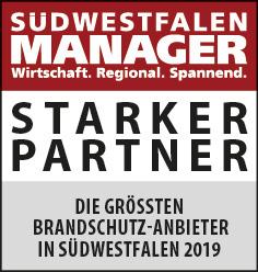 Siegel: STARKER PARTNER - Die größten Brandschutz-Anbieter in Südwestfalen