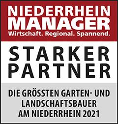 Siegel: STARKER PARTNER - Die größten Garten- und Landschaftsbauer am Niederrhein