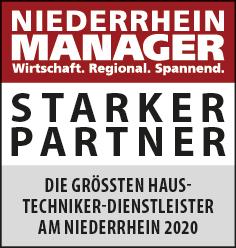 Siegel: STARKER PARTNER - Die größten Haustechniker-Dienstleister am Niederrhein