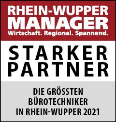 Siegel: STARKER PARTNER - Die größten Bürotechniker in Rhein-Wupper (Spezialisten)