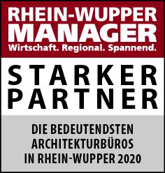 Siegel: STARKER PARTNER - Die größten Architekturbüros in Rhein-Wupper