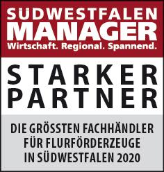 Siegel: STARKER PARTNER - Die größten Fachhändler für Flurförderzeuge in Südwestfalen