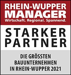 Siegel: STARKER PARTNER - Die größten Bauunternehmen in Rhein-Wupper