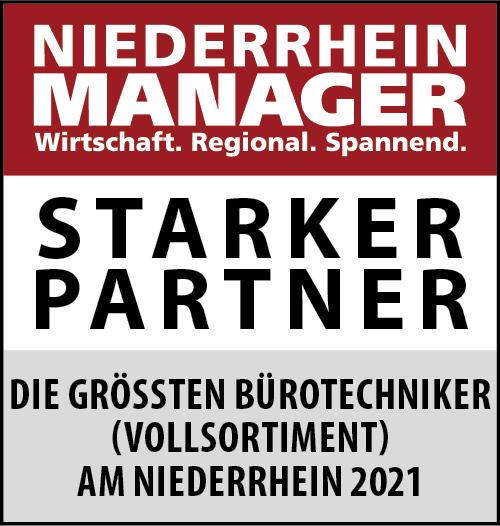 Siegel: STARKER PARTNER - Die größten Bürotechniker am Niederrhein (Vollsortiment)