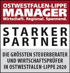 Siegel: STARKER PARTNER - Die größten Steuerberater und Wirtschaftsprüfer in Ostwestfalen-Lippe