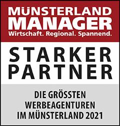 Siegel: STARKER PARTNER - Die größten Werbeagenturen im Münsterland