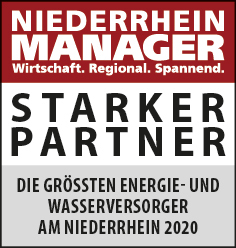Siegel: STARKER PARTNER - Die größten Energie- und Wasserversorger am Niederrhein