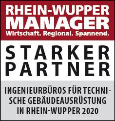 Siegel: STARKER PARTNER - Die größten Ingenieurbüros für technische Gebäudeausrüstung (TGA) in Rhein-Wupper