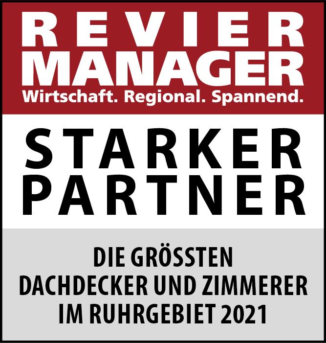 Siegel: STARKER PARTNER - Die größten Dachdecker und Zimmerer im Ruhrgebiet