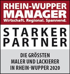 Siegel: STARKER PARTNER - Die größten Maler und Lackierer in Rhein-Wupper
