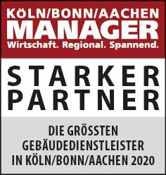 Siegel: STARKER PARTNER - Die größten Gebäudedienstleister im Gebiet Köln/Bonn und Aachen
