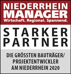 Siegel: STARKER PARTNER - Die größten Projektentwickler am Niederrhein