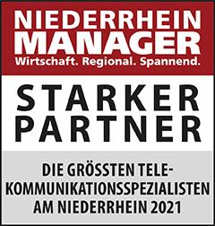 Siegel: STARKER PARTNER - Die größten Telekommunikations-Spezialisten am Niederrhein