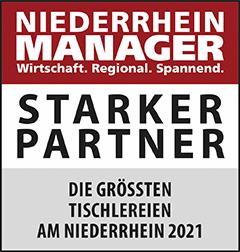 Siegel: STARKER PARTNER - Die größten Tischlereien am Niederrhein