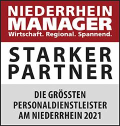 Siegel: STARKER PARTNER - Die größten Personaldienstleister am Niederrhein