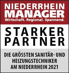 Siegel: STARKER PARTNER - Die größten Sanitär- und Heizungstechniker am Niederrhein