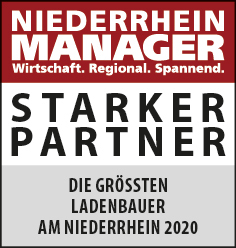 Siegel: STARKER PARTNER - Die größten Ladenbauer am Niederrhein