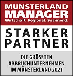 Siegel: STARKER PARTNER - Die größten Abbruchunternehmen im Münsterland