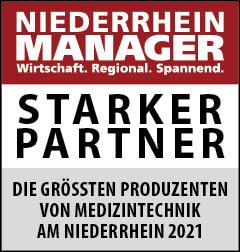 Siegel: STARKER PARTNER - Die größten Produzenten von Medizintechnik am Niederrhein