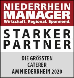 Siegel: STARKER PARTNER - Die größten Caterer am Niederrhein