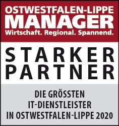Siegel: STARKER PARTNER - Die größten IT-Dienstleister in Ostwestfalen-Lippe