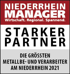 Siegel: STARKER PARTNER - Die größten Metallbe- und verarbeiter am Niederrhein
