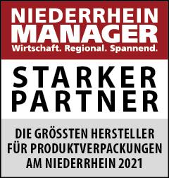 Siegel: STARKER PARTNER - Die größten Hersteller für Produktverpackungen am Niederrhein
