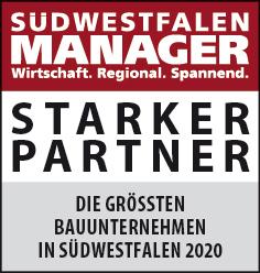 Siegel: STARKER PARTNER - Die größten Bauunternehmen in Südwestfalen