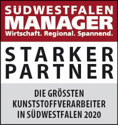 Siegel: STARKER PARTNER - Die größten Kunststoffverarbeiter in Südwestfalen