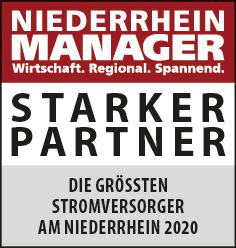 Siegel: STARKER PARTNER - Die größten Stromversorger am Niederrhein