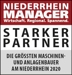 Siegel: STARKER PARTNER - Die größten Maschinen- und Anlagenbauer am Niederrhein