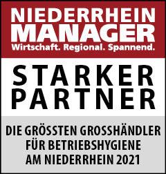 Siegel: STARKER PARTNER - Die größten Großhändler für Betriebshygiene am Niederrhein