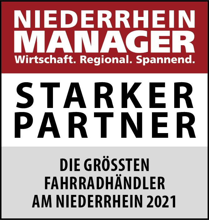 Siegel: STARKER PARTNER - Die größten Fahrradhändler am Niederrhein