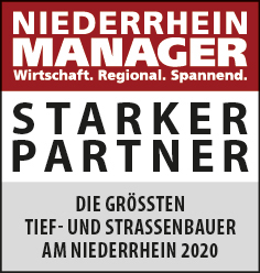 Siegel: STARKER PARTNER - Die größten Tief- und Straßenbauer am Niederrhein
