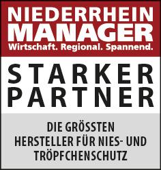 Siegel: STARKER PARTNER - Die größten Anbieter und Hersteller für Spuckschutz am Niederrhein