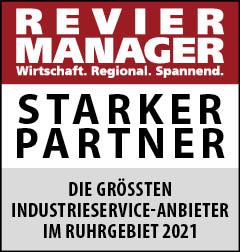 Siegel: STARKER PARTNER - Die größten Industrieservice-Anbieter im Ruhrgebiet